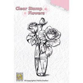 Nellie Snellen Nellie Snellen, Transparent stamp: Roses