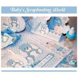 Stamperia und Florella Stamperia: scrapbog / kort papir, baby