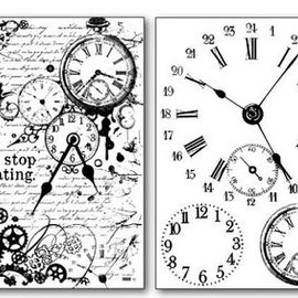 Stamperia Stamperia Transfer Paper A4 Clocks