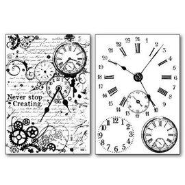Stamperia Stamperia Papier de transfert A4 Horloges