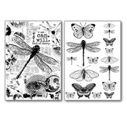 Stamperia Stamperia Carta di trasferimento A4, farfalle e libellula