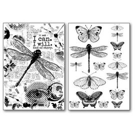 Stamperia und Florella Papier de transfert Stamperia A4, papillons et libellule