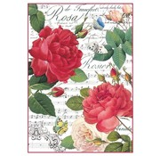Stamperia Stamperia Ris Papir A4 Røde Roser & Musik