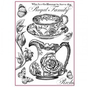 Stamperia Stamperia Rice Carta A4 Famiglia Reale Bianco e Nero