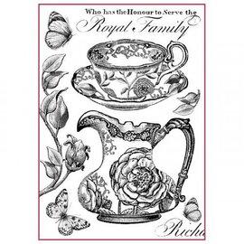 Stamperia und Florella Stamperia Rice Paper A4 Royal Family Black & White