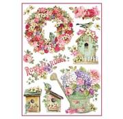 Stamperia Stamperia Rice Paper A4 Rose Garden