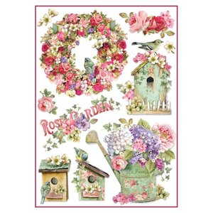 Stamperia Stamperia rijstpapier A4 Rose Garden