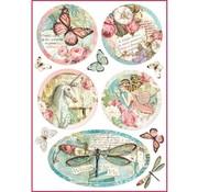 Stamperia Stamperia Carta di riso A4 Wonderland Fantasy Decorations