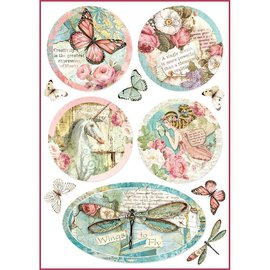 Stamperia und Florella Stamperia Rice Paper A4 Wonderland Fantasy Decorations