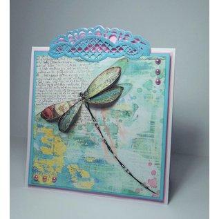 Stamperia und Florella Stamperia Overføringspapir A4, sommerfugler og dragonfly