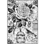 Stamperia Gabbia per uccelli A4 in carta stamperia di riso
