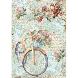 Stamperia Stamperia ris A4 papir cykel og gren med strømme
