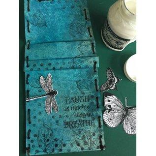 Stamperia und Florella Stamperia Transfer Paper A4, vlinders en libelle