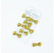 Embellishments / Verzierungen 8 beautiful handmade glitter bows to decorate your craft projects.