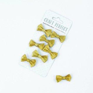 Embellishments / Verzierungen 8 beautiful handmade glitter bows to decorate your craft projects.