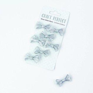 Embellishments / Verzierungen 8 wunderschöne handgefertigte Glitzer Schleifchen zum Schmücken Ihrer Bastelprojekte.