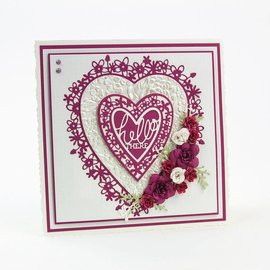 Tonic Tonic, Cutting and embossing Template: Flowerheart, 143 x 163 mm