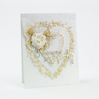 Tonic Studio´s Tonic, Cutting and embossing Template:  Flowerheart, 143 x 163 mm