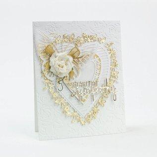 Tonic Studio´s Tonic, Snij en embossing mallen: Flowerheart, 143 x 163 mm