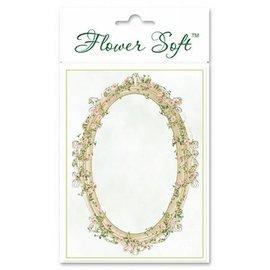 BASTELSETS / CRAFT KITS Blomst Myk, 6 kort med floral ovalt motiv