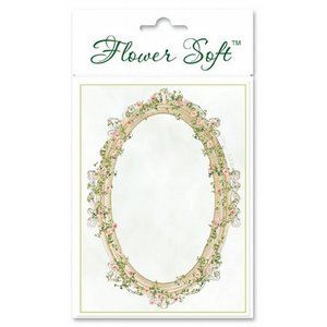 BASTELSETS / CRAFT KITS Flower Soft, 6 kaarten met bloemen ovaal motief