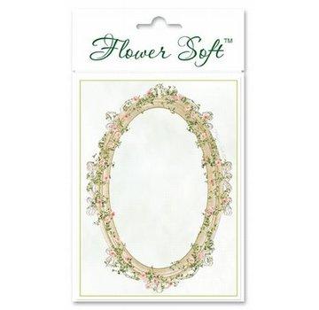BASTELSETS / CRAFT KITS Blomst Soft, 6 kort med blomstret ovalt motiv