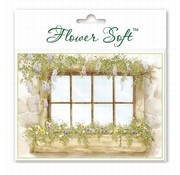 BASTELSETS / CRAFT KITS Flower Soft, 6 cards with flowers window motif