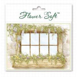 BASTELSETS / CRAFT KITS Flower Soft, 6 tarjetas con motivo de ventana de flores