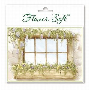 BASTELSETS / CRAFT KITS Flower Soft, 6 Karten mit Blumen Fenster Motiv