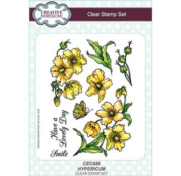 CREATIVE EXPRESSIONS und COUTURE CREATIONS Transparent stamp: Hypericum