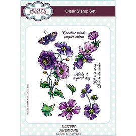 CREATIVE EXPRESSIONS und COUTURE CREATIONS Transparent stamp: anemone