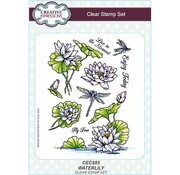 CREATIVE EXPRESSIONS und COUTURE CREATIONS Transparent Stempel:  Seerose