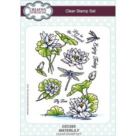 CREATIVE EXPRESSIONS und COUTURE CREATIONS Transparent stamp: water lily