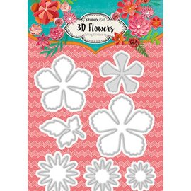 CREATIVE EXPRESSIONS und COUTURE CREATIONS Studio Light, Die Cutting Template: fiori 3D