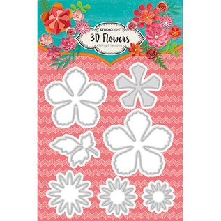 CREATIVE EXPRESSIONS und COUTURE CREATIONS Studio Light, Cutting and embossing Template: 3D Flowers