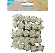 Embellishments / Verzierungen 25 weiße Röschen