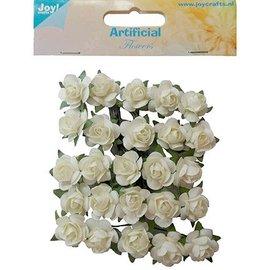 Embellishments / Verzierungen 25 witte rozen