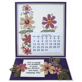 CREATIVE EXPRESSIONS und COUTURE CREATIONS Gennemsigtigt frimærke: blomster
