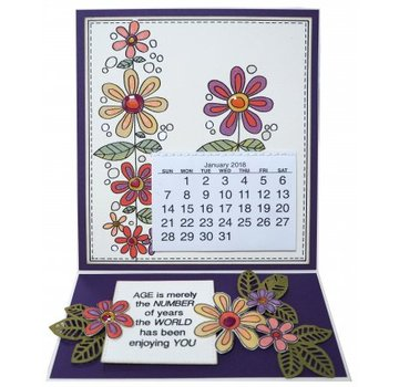 CREATIVE EXPRESSIONS und COUTURE CREATIONS Transparent stamp: flowers