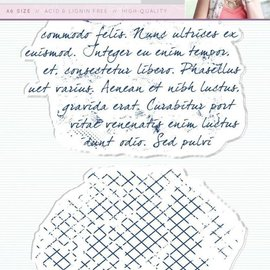 Crafter's Companion Transparent stamp: Script