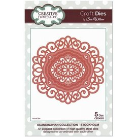 CREATIVE EXPRESSIONS und COUTURE CREATIONS Creative Expressions, punching template: frame in lace motif