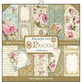 Stamperia NIEUW! Stamperia: Scrapbooking Paperblock, Precious