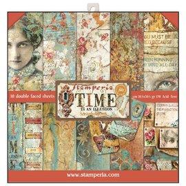 Stamperia NOUVEAU! Stamperia: Scrapbooking Paperblock, le temps est une illusion