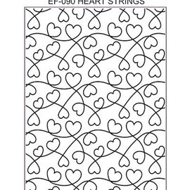 CREATIVE EXPRESSIONS und COUTURE CREATIONS Kreative udtryk, Embossing Folder / Embossing Folder: Heart Strings