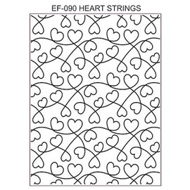 CREATIVE EXPRESSIONS und COUTURE CREATIONS Creative Expressions, Embossing Folder / Embossing Folder: Heart Strings