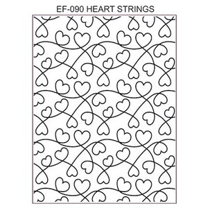 CREATIVE EXPRESSIONS und COUTURE CREATIONS Creative Expressions,  Prägefolder: Heart Strings