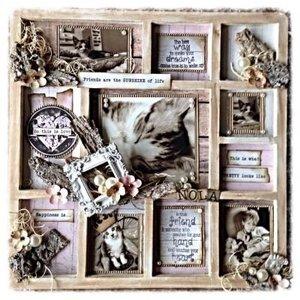 Objekten zum Dekorieren / objects for decorating NEW: MDF photo frame, 11 subjects