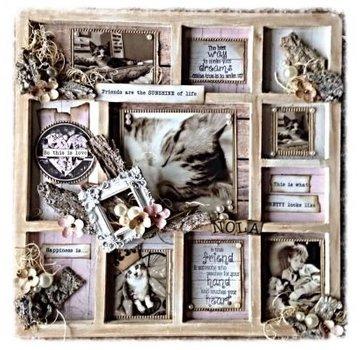 Objekten zum Dekorieren / objects for decorating NUOVO: photo frame MDF, 11 soggetti