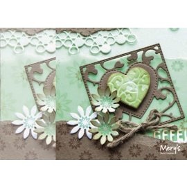 Joy!Crafts / Jeanine´s Art, Hobby Solutions Dies /  Punzonado y cliché de estampado: cuadrado con el corazón