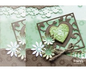 JOY CRAFTS DIE CUTTING /& EMBOSSING STENCIL SQUARE WITH HEART  6002//0445